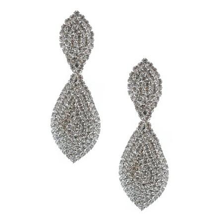 Pear Wedding Earrings (Wedding Earrings Silver Plating Pear Shaped Drop Earrings )
