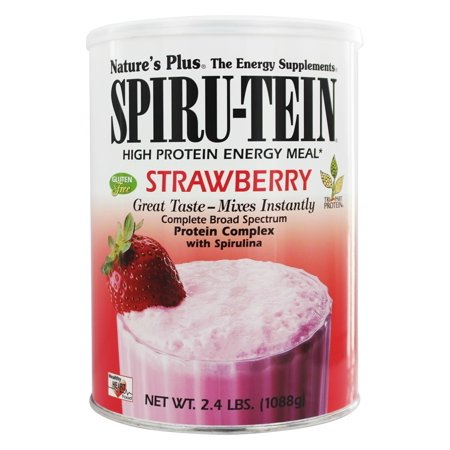 Strawberry SPIRU-TEIN Shake by Nature's Plus 2.4 Pounds (Spiru Tein Single Packets)