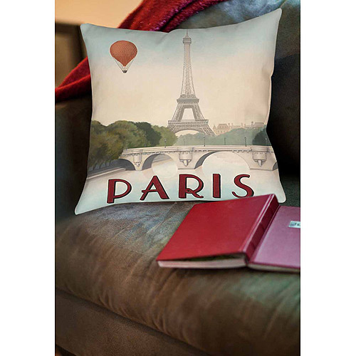 Thumbprintz City Skyline Paris Indoor Pillow
