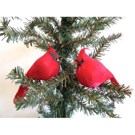 Xmas Jack - Fat Jack Red Cardinal 4.5 inch Christmas Ornament per THREE (3)