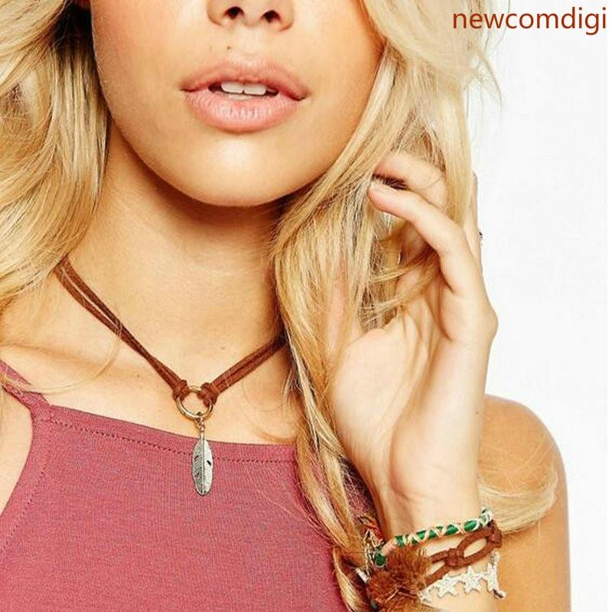 Women Jewelry Handmade Charm Necklace Black Velvet Choker Chain Gothic