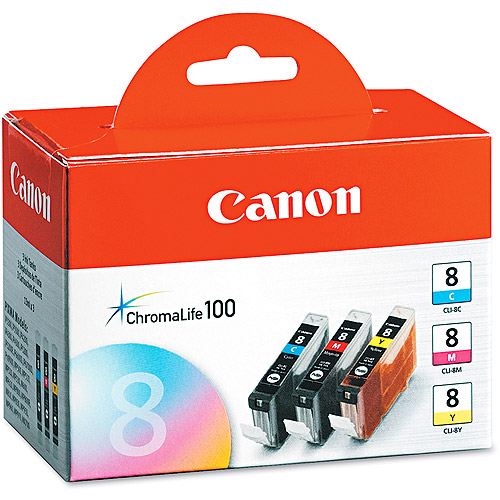 Canon 0620B016 Assorted Colors Chromalife Ink, (CNM0620B016), 3pk