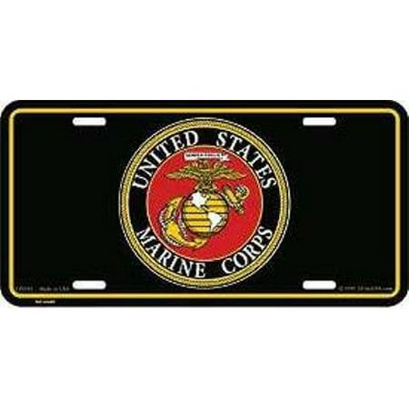 Marine Corps Retired License Plate (United States Marine Corps License Plate (Black) )
