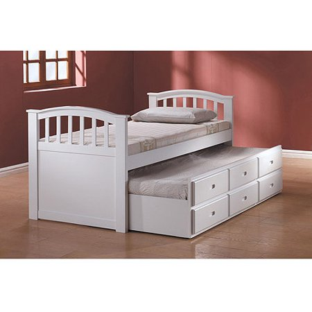 san marino captain bed with trundle and drawers white. Black Bedroom Furniture Sets. Home Design Ideas