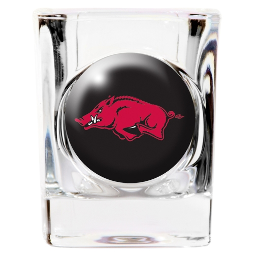 Arkansas Razorbacks NCAA Square Shot Glass Great American Products 792461 by Great American Products
