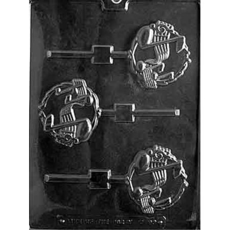 Cybrtrayd Life of the Party J093 Music Staff Note Clef Lolly Chocolate Candy Mold in Sealed Protective Poly Bag Imprinted with Copyrighted Cybrtrayd Molding Instructions