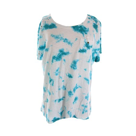Style Co. Moroccan Tile Blue Plus Size Tie-Dyed Tee X - 7 Til Midnight Plus Size