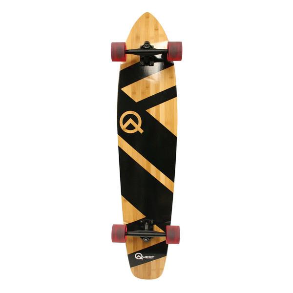 "Quest Super Cruiser Artisan Bamboo Longboard Skateboard, 44"" by Overstock"
