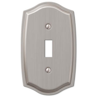 1 Single Toggle Switch Wall Plate Cover - Brushed Nickel