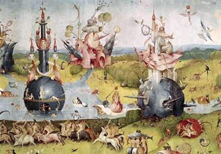 Garden of Earthly Delights , Detail Center Panel Poster Print by Hieronymus  Bosch