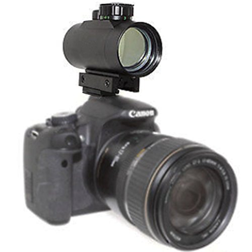 Weatherproof 1X40RD Reflex Dot Sight Lighted Scope Mount for DSLR Cameras