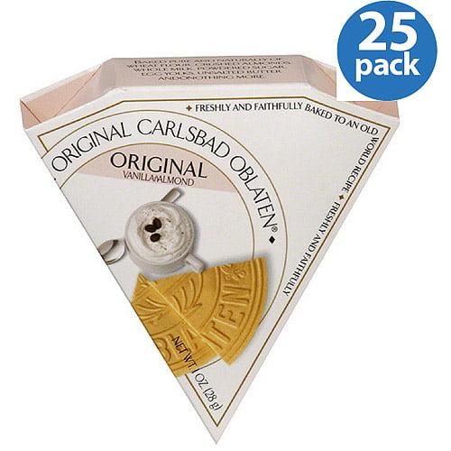 Carlsbad Oblaten Original Vanilla Almond Dessert Wafers, 1 oz, (Pack of 24) by Generic