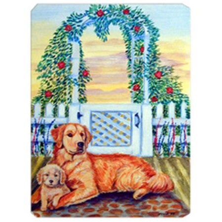 8 x 9.5 in. Golden Retriever with Puppy at the Gate Mouse Pad, Hot Pad Or Trivet - image 1 de 1
