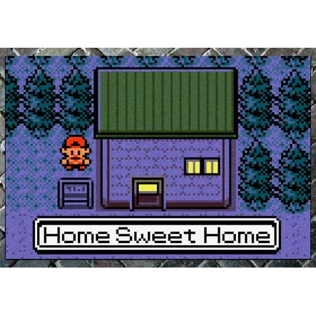 Pokemon  Gen Ii    Home Sweet Home    Doormat Welcome Floormat  24  X 36  Night