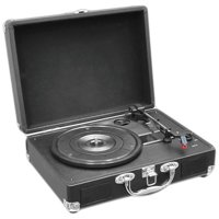 Pyle Audio Retro Belt Drive Portable Turntable with Rechargeable Battery and USB to PC Connection