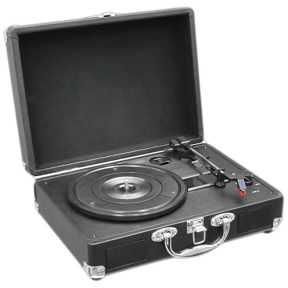 Pyle Home Retro Belt-Drive Turntable with USB-to-PC Connection, Black