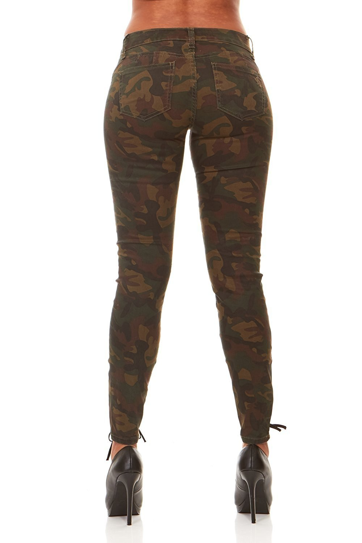 751582312b4 V.I.P. JEANS - Camo Print Skinny Jeans Joggers Cargo Lace Leg Womens Junior  Size 11 - Walmart.com