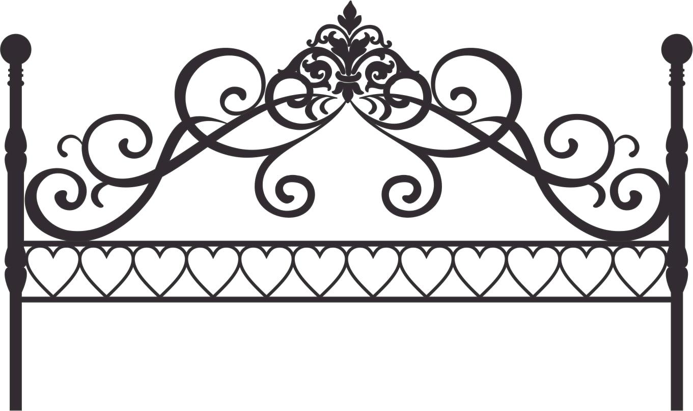 Queen of hearts vinyl headboard decal sticker king walmart com
