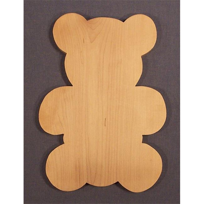 THE PUZZLE-MAN TOYS W-2703 Wooden Household Items - Cutting Board - Teddy Bear - Hard Maple - Surface Grain const.