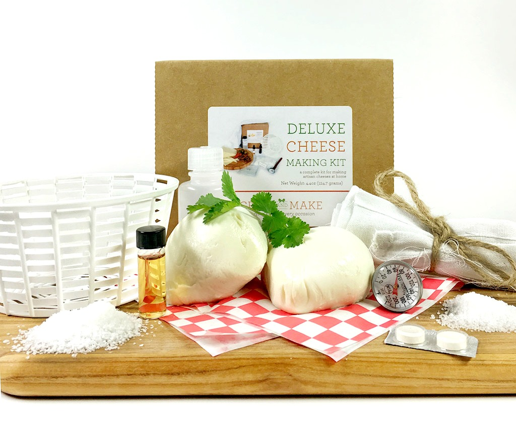 Deluxe DIY Cheese Making Kit Learn how to make home made mozzarella, ricotta, colby,... by