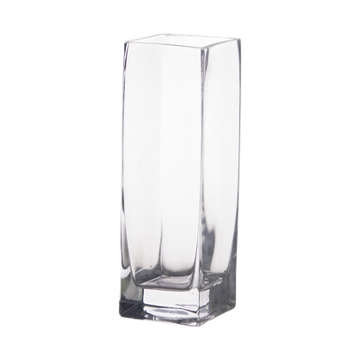 "8"" Glass Square Bud Vases by Candles4Less"