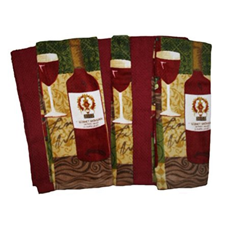 The Big One 6 Pack Wine Kitchen Towels