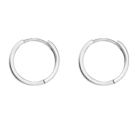 33676a523a8c9 Men's 14k Solid Yellow or White Gold Single Square Tubular Huggie Unisex  Hoop Earring