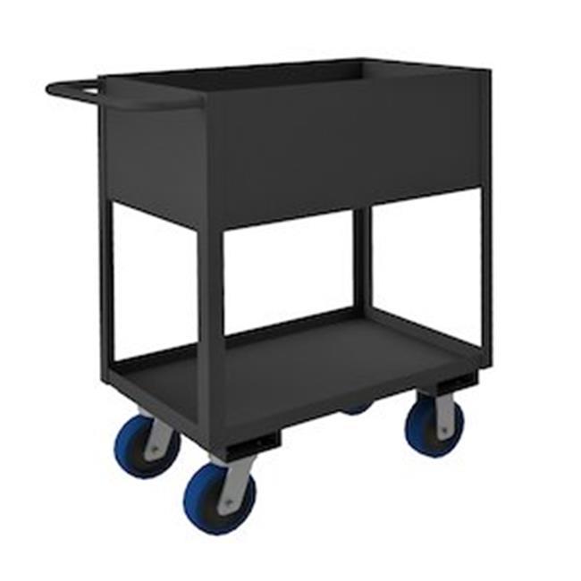Durham RSC12-1830-2-3.6K-6PU-95 39 in. Rolling Service Cart, Gray - 3600 lbs