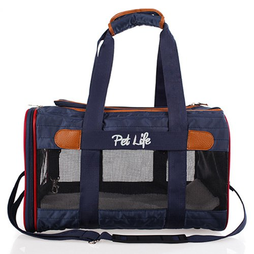 Pet Life Airline Approved Aero-Zoom Lightweight Wire Framed Collapsible Pet Carrier by Pet Life