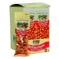 Product Of Snak Club, Tube Hot & Spicy Peanuts, Count 12 (2 oz) - Snacks / Grab Varieties & Flavors