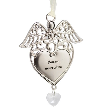 You are Never Alone Angel Heart Charm Ornament - By (Heavenly Angel Ornament)