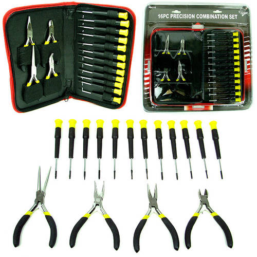 Stalwart 16-Piece Precision Jewelers Tool Set with Case