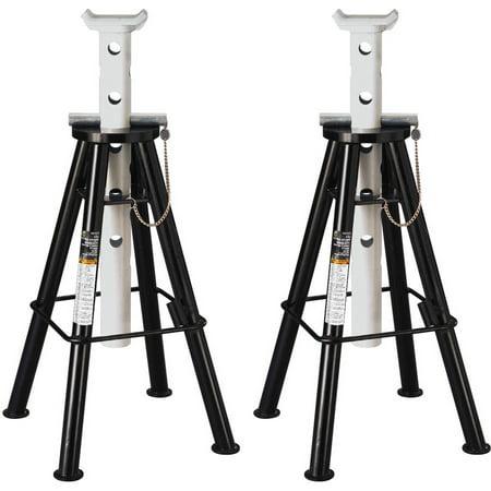 Capacity High Lift (Omega 32107B Black High Lift Jack Stand, 10 Ton)