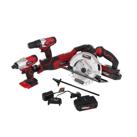 Hyper Tough HT Charge 20-Volt 4-Tool Combo Kit