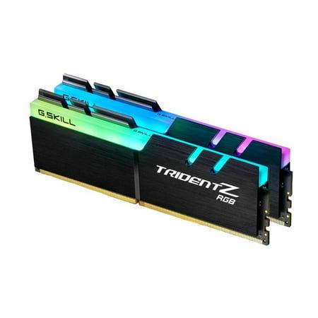 32GB G.Skill DDR4 TridentZ RGB 3200Mhz PC4-25600 CL16 1.35V Dual Channel Kit (2x16GB) for - Amd Dual Channel Memory