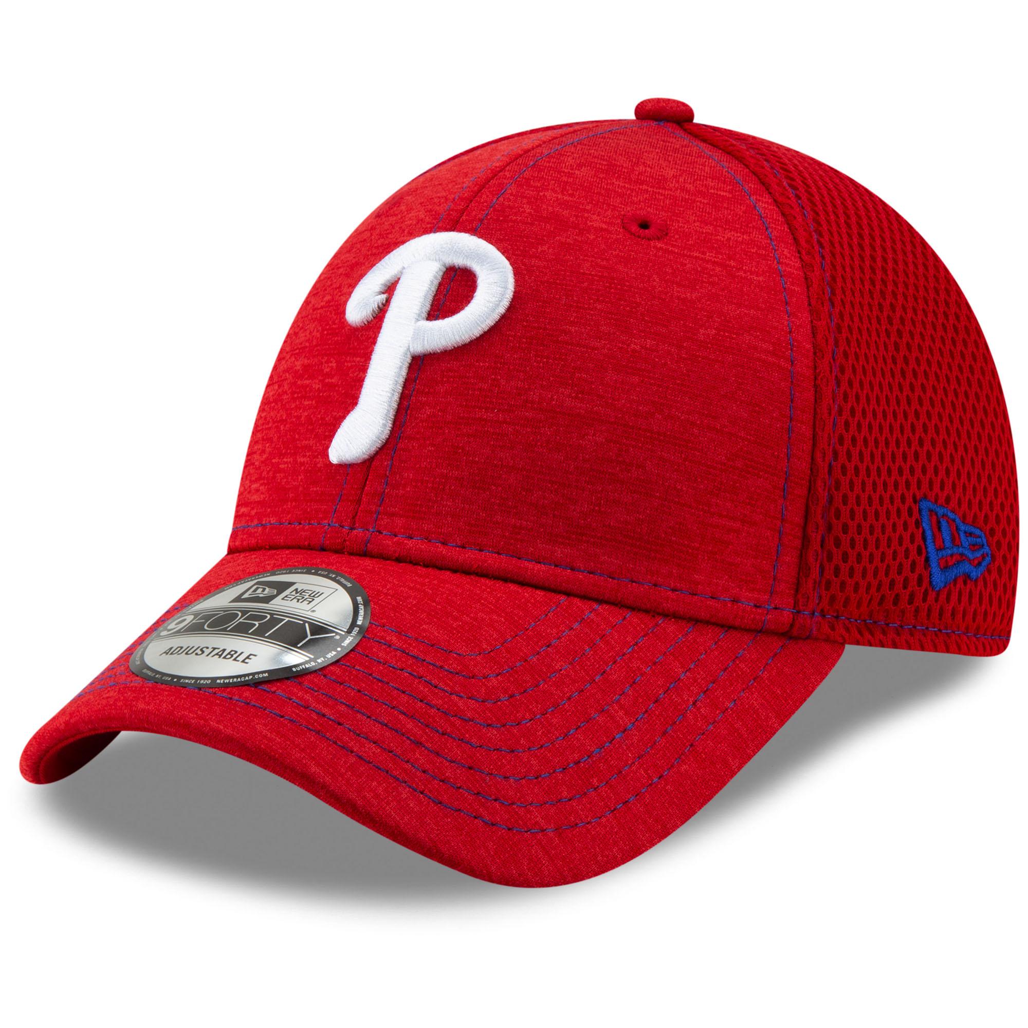 Philadelphia Phillies New Era Youth Team Tread 9FORTY Adjustable Hat - Red - OSFA