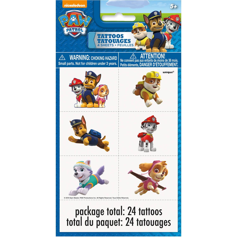 PAW Patrol Temporary Tattoos, 24ct