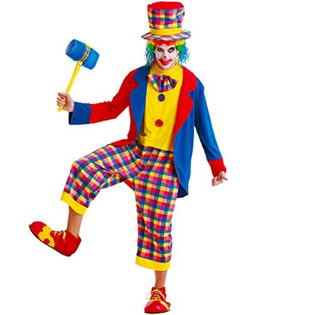 Boo! Inc. Creepy Clown Adult Men's Halloween Dress Up Theme Party Cosplay Costume - Halloween Work Theme Ideas