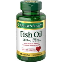 Nature's Bounty® Fish Oil 1200 mg Omega-3, 60 Odorless Softgels