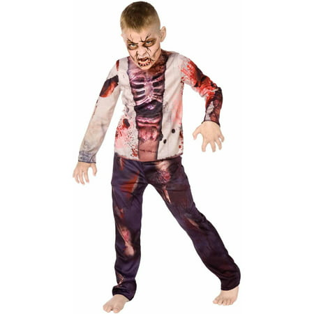 Zombie Boys' Child Halloween Costume - Simple Zombie Makeup Halloween