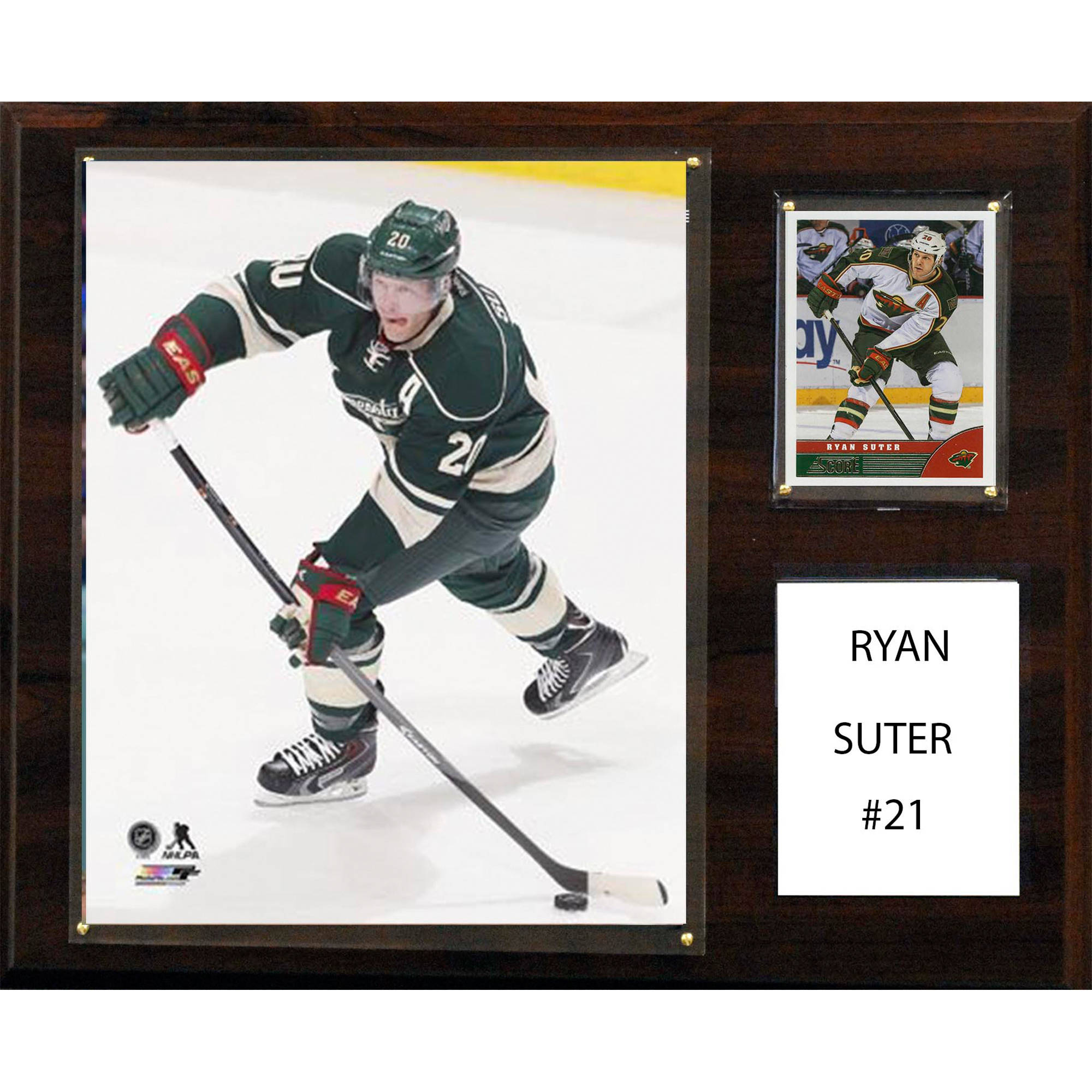 C&I Collectables NHL 12x15 Ryan Sutter Minnesota Wild Player Plaque