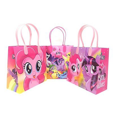 12PCS Hasbro My Little Pony Goodie Party Favor Gift Birthday Loot Bags - My Little Pony Party Tote Bag