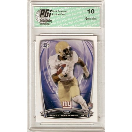 2005 Bowman Chrome Football Card - Odell Beckham Jr. 2014 Bowman White Football #8 Giants Rookie Card PGI 10