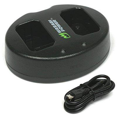 ... wasabi power dual usb battery charger for sony np-fw50, bc-vw1,
