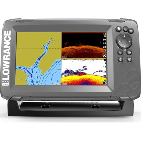 Lowrance HOOK2 7 - 7-inch Fish Finder with SplitShot Transducer and US Inland Lake Maps