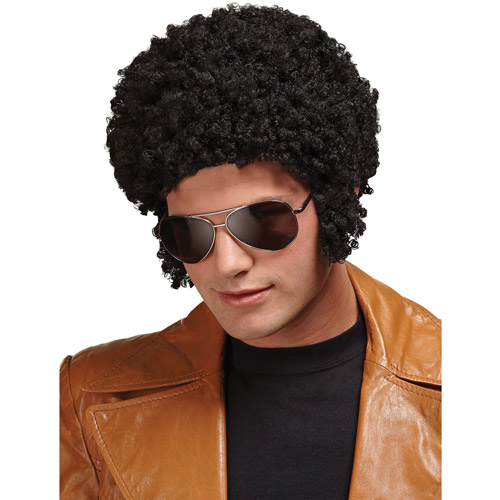 Welcome Back Black Afro Wig Adult Halloween Accessory