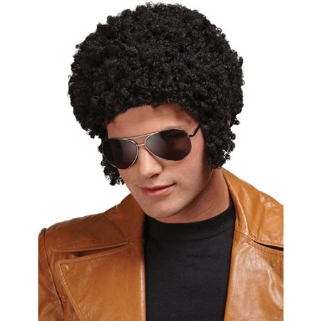 Welcome Back Black Afro Wig Adult Halloween Accessory for $<!---->