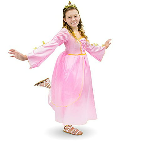 Pink Dress Costumes (Boo! Inc. Pink Princess Kids Girl Halloween Dress Up Party Roleplay)