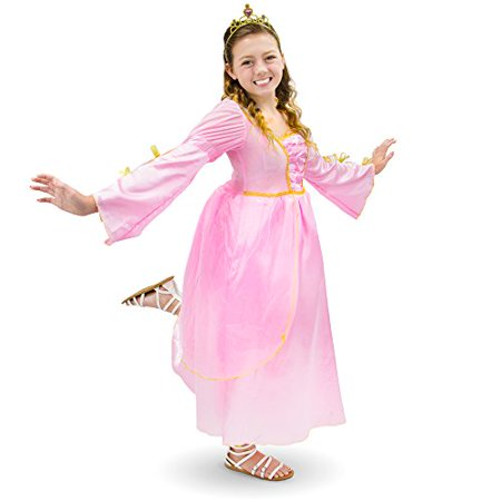 Boho Halloween Costume (Boo! Inc. Pink Princess Kids Girl Halloween Dress Up Party Roleplay)