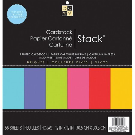 DCWV Single-Sided Cardstock Stack 12